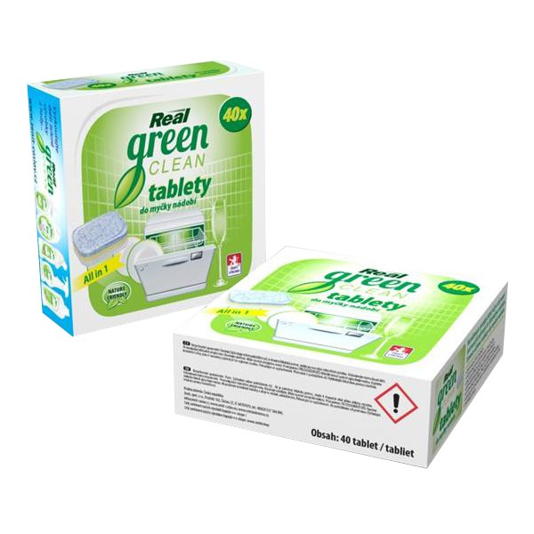 Real Green Clean talbety do myčky 40 ks