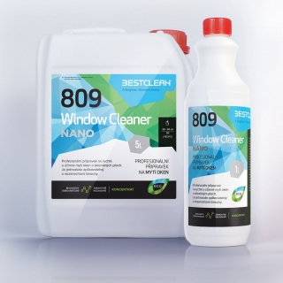 Bestclean 809 Window Clean nanotechnologie koncentrát 5L